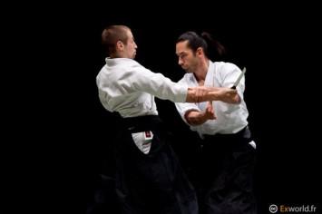 Leo Tamaki, maître de l'Aïkido Kishinkaï (ici avec Julien Coup)